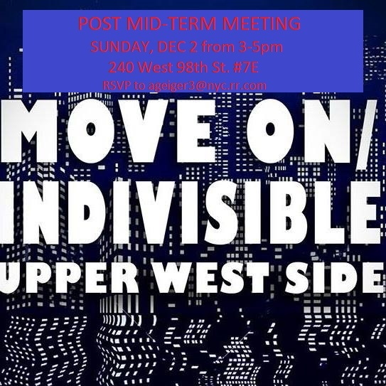 Upper West Side MoveOn/Indivisible Action Group